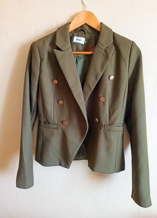 Пиджак жакет в стиле balmain хаки милитари стиль