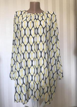 Шифоновое платье с пышным рукавом италия
