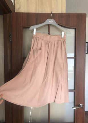Легкая пудровая юбка весна/лето от h&m🌷
