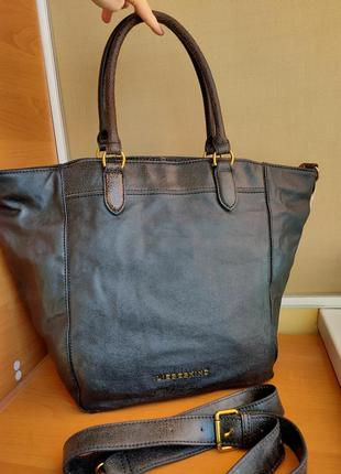 Немецкая кожаная сумка- шоппер liebeskind