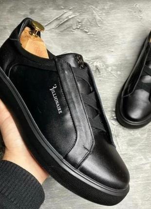Мужские стильные кроссовки кеды billionaire