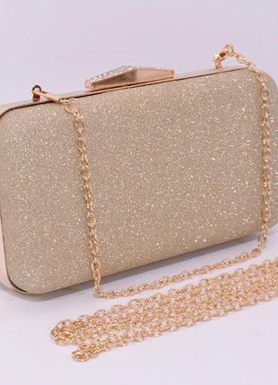 Вечерний клатч rose heart 09829 золотистый, сумочка на цепочке, цена ... cfa21f7efc9