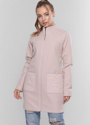 Куртка-пальто женское кашемир + плащевка 46-48 размер