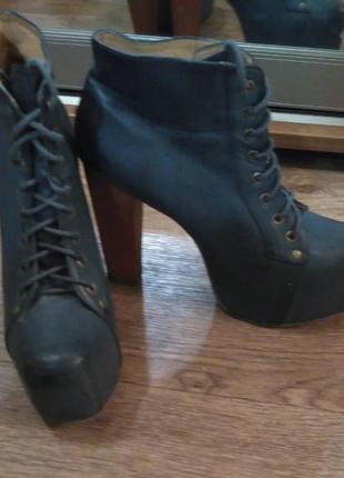 Крутейшие кожаные ботинки jeffrey campbell