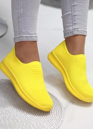 Кроссовки женские sunny, текстиль, желтые