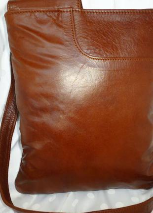 Стильная сумка-планшетка натуральная кожа daniel