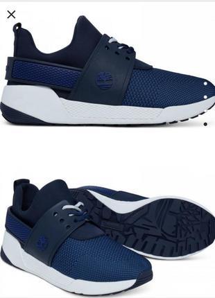 Городские кроссовки синего цвета timberland