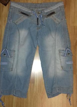 Бриджи джинсовые! новые!2 размера