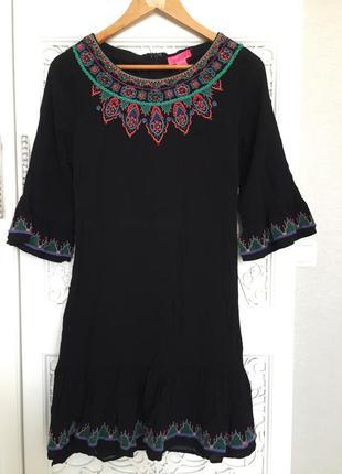 Платье вискоза вышивка бисер monsoon