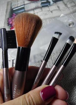 Набор кистей для макияжа malva m 301 коричневые