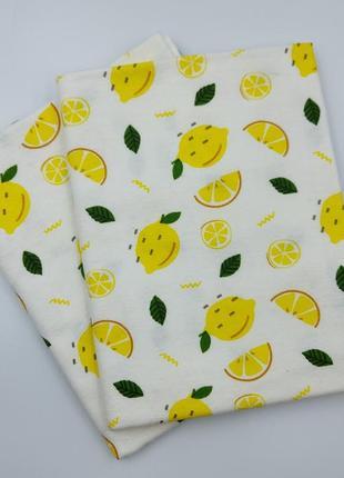 Фланелевая пеленка лимоны