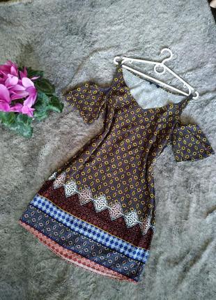 100% вискоза милое платье прямого кроя, свободное платье туника