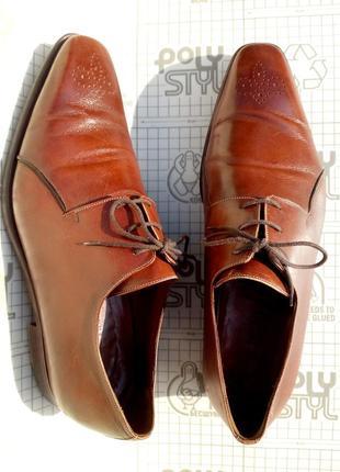 A testoni италия мужские светло-коричневые туфли дерби 8н размер