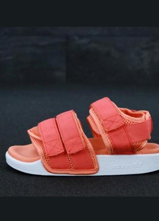 Adidas sandals coral orange сандали/босоножки оранжевые/коралловые