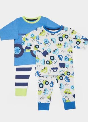 Пижамки 2 шт. в уп., dunnes, англия. размер 2-3 года
