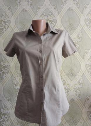 Хб рубашка с коротким рукавом