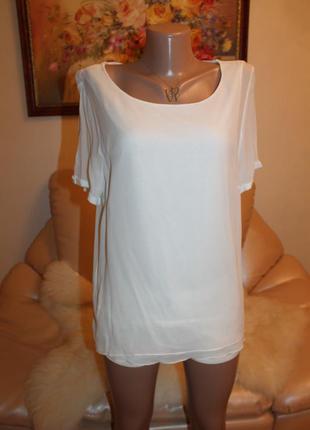 Шикарная белая блуза, легкая воздушная и очень стильная m l