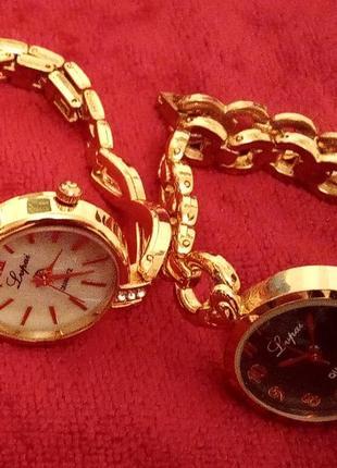 Женские часы наручные) позолота