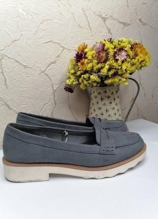 Лоферы туфли серые papaya