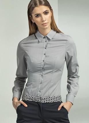 Серая рубашка в полосочку от h&m