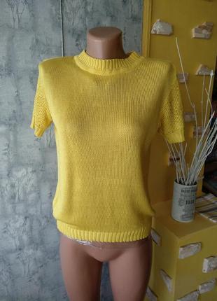 Вязаная милая кофточка джемпер блуза