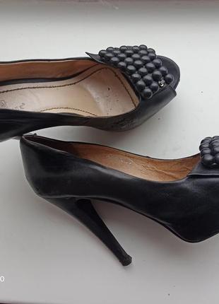 Лодочки туфли кожа натур