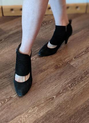 Замшевые туфли большой размер