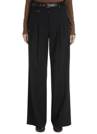 High-everydaycouture шикарные широкие брюки шерсть высокая посадка италия swarovski®