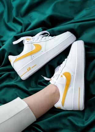 Женские кеды air force 1 white yellow