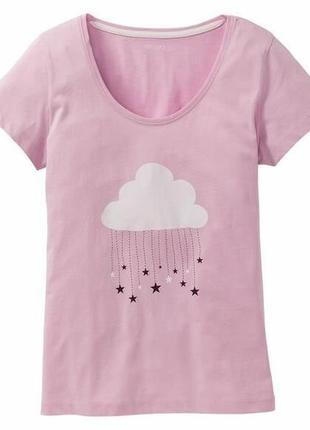 Женская пижамная футболка для дома s 36/38 евро esmara, германия