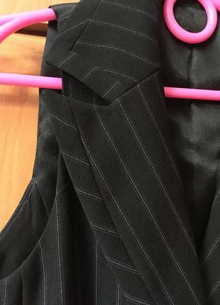 Жилетка костюмная строгая на рубашку new look в полоску6 фото