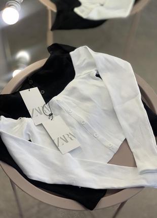 Базовая кофта топ в рубчик zara футболка в рубчик зара