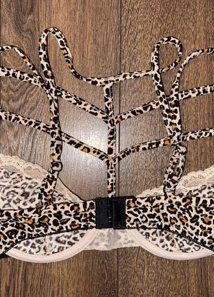 Бюстгальтер,леопардовый принт 75с