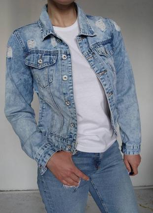 Куртка джинсовая жакет пиджак хлопок деним