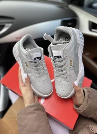 Женские кеды puma cali white grey