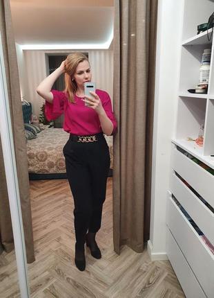 Шифоновая блуза цвета фуксии