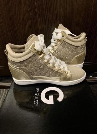 Сникерсы кроссовки guess гесс 37 золотые оригинал