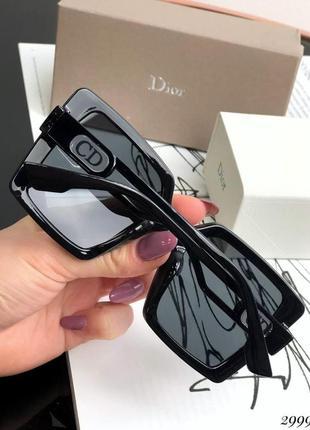 Очки  с солнцезащитные  черной оправой внутри камни3 фото