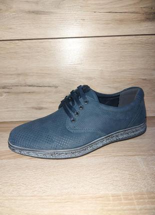Комфортные мужские туфли 🍋  перфорация классика мокасины чоловічі туфлі