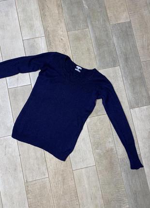 Темно-синий кашемировый пуловер,шерстяной пуловер