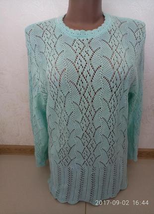 Милый бирюзовый свитерок