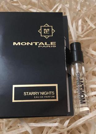 Пробник аромата montale starry night 2 мл новый, оригинал