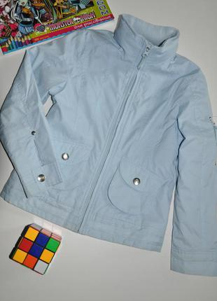 Голубая куртка here+there на флисовой подкладке