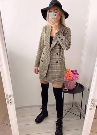 Костюм двойка,удлиненным пиджак,юбка,пиджак кашемир,юбка высокая посадка