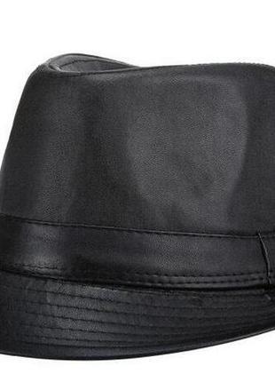 Шляпа эко кожа