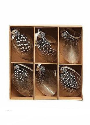 Стеклянные подвесные крашенки пасхальный декор melinera