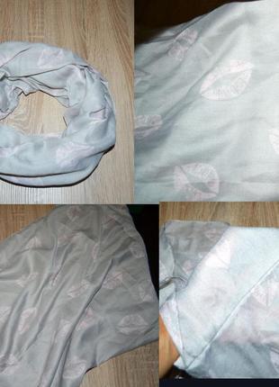 Продам шарф хомут модный пудровый губки h&m