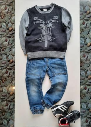 Серый хлопковый свитер gymboree с мотоциклом  4t и 5t6 фото