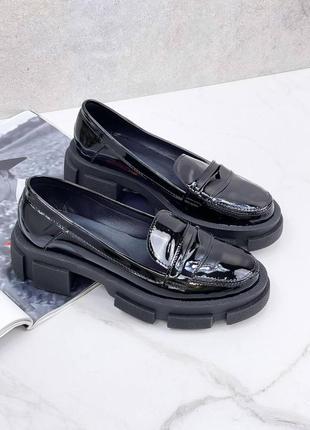 ❤крутые туфли из натуральной лаковой кожи ❤
