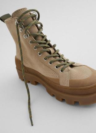 Кожаные кеды кроссовки ботинки zara